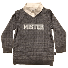 jongens trui grey black MISTER LIMITED EDTITION