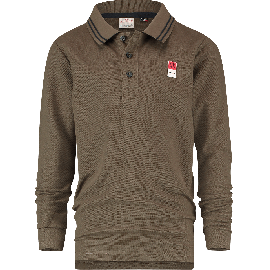 ES01KBN32002_B-Basic-Polo-LS-207_Army Green Wood_FRONT
