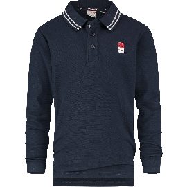ES01KBN32002_B-Basic-Polo-LS-207_Midnight Blue_FRONT