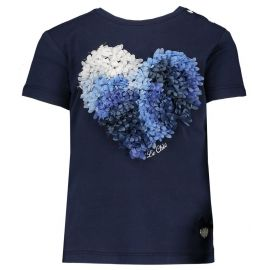 meisjes t-shirt blue navy Lovely chic