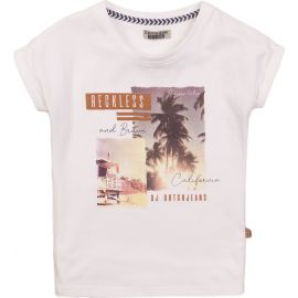 meisjes t-shirt white reckless and brave
