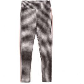 meisjes dj dutchjeans broek anthracite check rock and roses