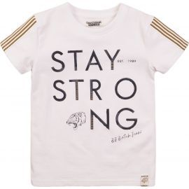 jongens t-shirt white stay strong tiger