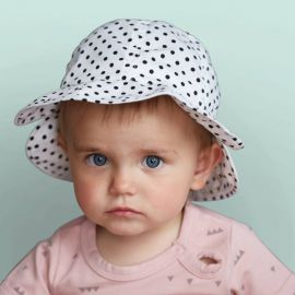 MELTON SS17 baby girl with summerhat dots