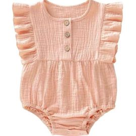 meisjes romper soft pink lexi and the moon muslin