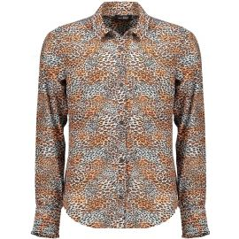 meisjes blouse ginger tess leopard aop on poly voile