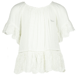 meisjes blouse real white levina